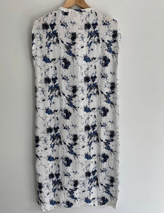 JUST FEMALE gorgeous marble print button front shirt dress XS 8-10 BNWT