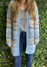 Load image into Gallery viewer, GYPSY amazing multi coloured boho knit cardigan NEW one size