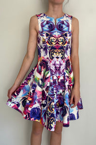 SARA PHILLIPS stunning Digital Printed A Line Dress Size 8