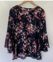 Load image into Gallery viewer, SUSSAN stunning Chiffon printed Nightsky boho Top Blouse Size 8 10 BNWT $119