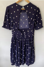 Load image into Gallery viewer, (Preloved) & OTHER STORIES stunning Navy White Polka Dot Dress Size 38 AU 8-10