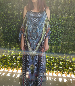 ISABELLA THE LABEL amazing cold open shoulder Kaftan dress 8-18