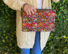 "Load image into Gallery viewer, Boho tribal ""The Camilla"" purse clutch iPad bag"