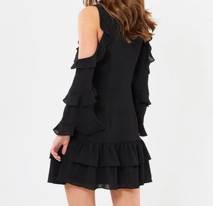 CHANCERY black Courtney frill dress