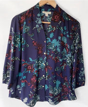 Load image into Gallery viewer, (Preloved) DANA BUCHMAN beautiful Button Front Blouse Shirt Top Size M 10-12 AU