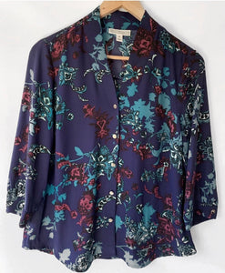 (Preloved) DANA BUCHMAN beautiful Button Front Blouse Shirt Top Size M 10-12 AU