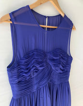 Load image into Gallery viewer, JIGSAW stunning amazing Royal Blue Detailed A Line Silk Dress Size 12