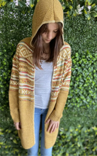 Load image into Gallery viewer, HADDIE gorgeous mustard hooded boho cardigan One size NEW