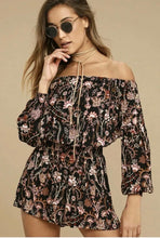 Load image into Gallery viewer, (Preloved) FREE PEOPLE Divine Floral Pretty & Free Boho Off Shoulder Playsuit Size S