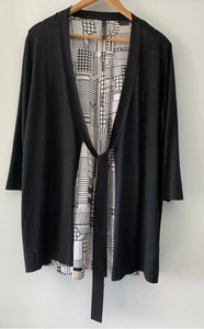 VISAGE NZ Divine Silk & Knit Cardigan Cardi Size L 14 16 AS NEW $380