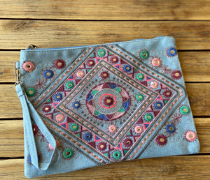 "Boho tribal ""The Georgia"" purse clutch iPad bag"
