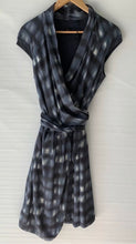 Load image into Gallery viewer, (Preloved) DAVID LAWRENCE Gorgeous Check Print Wrap Shirt Dress Size 8