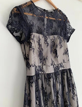 Load image into Gallery viewer, (Preloved) JIGSAW stunning A Line Black Lace Romance Victorian Dress Size 8