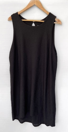 SUSSAN gorgeous Black Textured Hi Low Asymmetrical Dress Size L BNWT $99.95