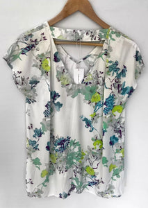VERONIKA MAINE divine Printed Viscose Relaxed Fit Top Blouse Size 6 NEW