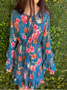DREAMCATCHER floral long sleeve Gloria dress