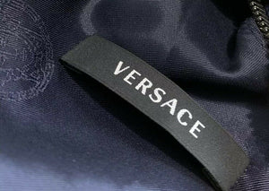 VERSACE stunning Royal Blue & Black Mini Zipper Dress Size 40 US 4 AU 8