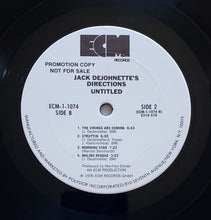 Load image into Gallery viewer, (dejohnette) | Jack DeJohnette's Directions [Untitled] White Label Promo