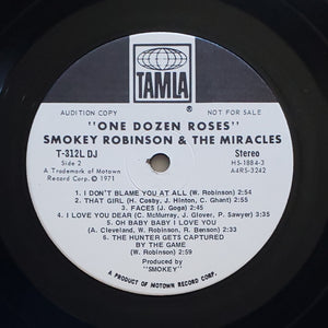(robinson, smokey) | Smokey Robinson & The Miracles [One Dozen Roses] White Label Promo