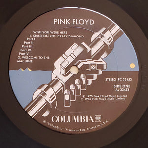 (pink floyd) | Pink Floyd [Wish You Were Here] US Promo Original