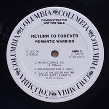 Load image into Gallery viewer, (return to forever) | Return To Forever [Romantic Warrior] White Label Promo