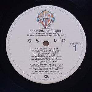 (devo) | Devo [Freedom Of Choice] US Promo Original