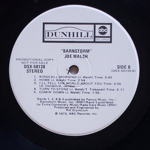 (walsh, Joe) | Joe Walsh [Barnstorm] White Label Promo