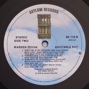 (zevon, warren) | Warren Zevon  [Excitable Boy] US Original