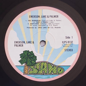 (emerson lake palmer) | Emerson Lake & Palmer [Emerson Lake & Palmer] 1972 UK Pink Rim