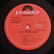 Load image into Gallery viewer, (eno, Brian) | Brian Eno [Before And After Science] UK Original