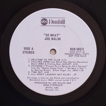 Load image into Gallery viewer, (walsh, Joe) | Joe Walsh [So What] White Label Promo