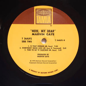 (gaye, marvin) | Marvin Gaye [Here, My Dear] US Promo Original