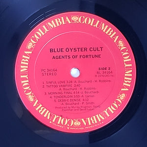 (blue oyster) | Blue Öyster Cult [Agents Of Fortune] US Original