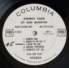Load image into Gallery viewer, (cash, johnny) | Johnny Cash [Johnny Cash At San Quentin] White Label Promo