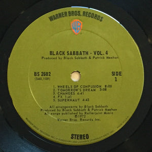 (black sabbath) | Black Sabbath [Vol. 4] US Original