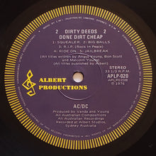 Load image into Gallery viewer, (acdc) | AC/DC [Dirty Deeds Done Dirt Cheap] 1977 Australian Pressing
