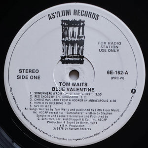 (waits, tom) | Tom Waits [Blue Valentine] White Label Promo