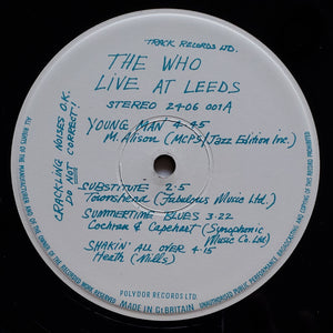 (who) | The Who [Live At Leeds] Early UK Press
