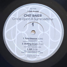 Load image into Gallery viewer, (baker, chet) | Chet Baker [Once Upon A Summertime] US Original