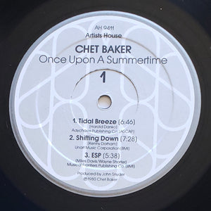 (baker, chet) | Chet Baker [Once Upon A Summertime] US Original