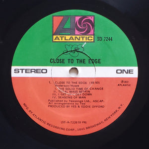 (yes) | Yes [Close To The Edge] US Promo Original