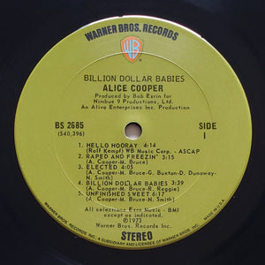 (cooper, alice) | Alice Cooper [Billion Dollar Babies] US Original