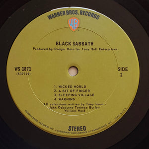 (black sabbath) | Black Sabbath [Black Sabbath] US Original
