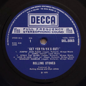 (rolling stones) | Rolling Stones [Get Yer Ya-Ya's Out] UK Original