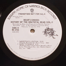 Load image into Gallery viewer, (grateful dead) | Grateful Dead [Bear's Choice: History Of The Grateful Dead] White Label Promo