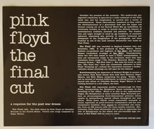 Load image into Gallery viewer, (Pink Floyd) | Pink Floyd [The Final Cut] US Promo