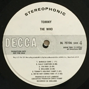 (who) | The Who [Tommy] White Label Promo