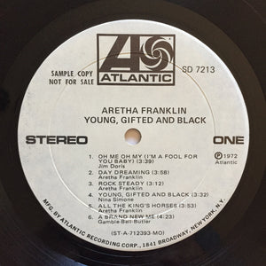 (franklin, aretha) | Aretha Franklin [Young, Gifted and Black] Monarch White Label Promo