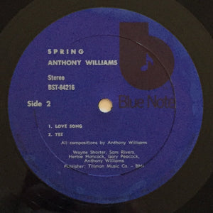 (williams, tony) | Anthony Williams [Spring] '70s Blue/Black Label