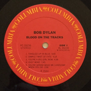 (dylan, bob) | Bob Dylan [Blood On The Tracks] US Original